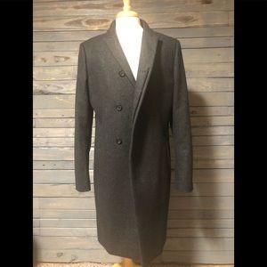 All Saints Charcoal Grey Laurel Coat